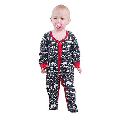 49ad2efa92b Amazon.com  Infant Baby Boys Girls Footies Romper Polar Bear Sleepwear Warm  Pyjamas Onesie Jumpsuit Long Sleeve Bodysuit 0-18M  Clothing