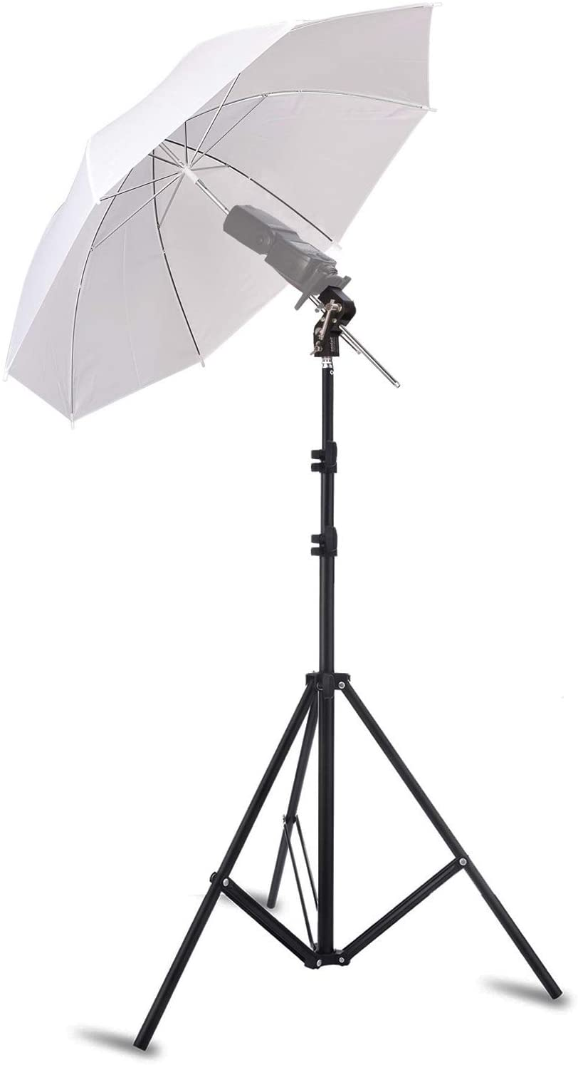 Almencla H-Type Umbrella Swivel Bracket 1//4 3//8 Studio Photo Speedlight Light Stand