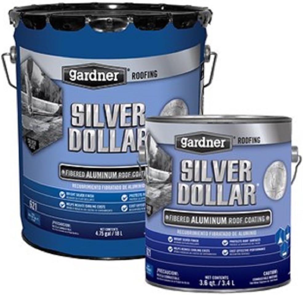 Amazon Com Silver Dollar 6215ga Aluminum Roof Coating 5 Gallon Automotive
