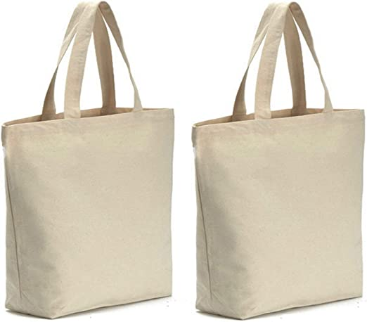 """Large Big Reusable Grocery Shopping Tote Bags Recycled Eco Friendly 19 X16/"""""""