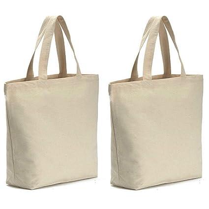 "757078a9ff3ed5 AxeSickle Canvas Tote Bag 2PCS Bottom Gusset 16"" W X 16"" H X  4.2"" Heavy"
