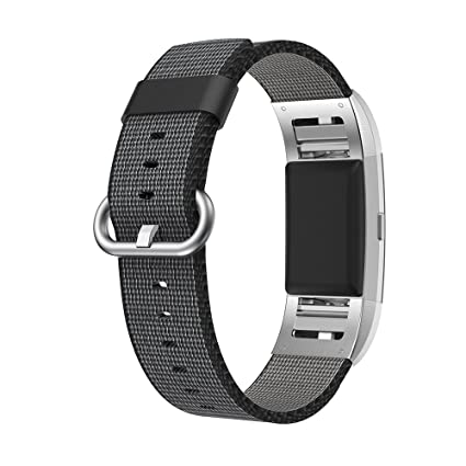 Fitbit Charge 2 Correa,SongNi® Black Woven Nylon Correa Bracelet Replacement Wrist Correa for