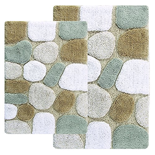 Chesapeake 2 Piece Pebbles 21 Inch By 34 Inch And 24 Inch By 40 Inch Bath  Rug Set, Spa