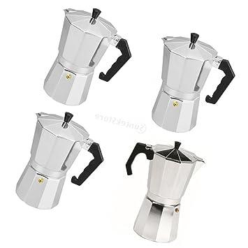 Sharplace 4 Pedazos Estufa de Café Hecha de Aluminio Pote de Moka de Casa: Amazon.es: Hogar
