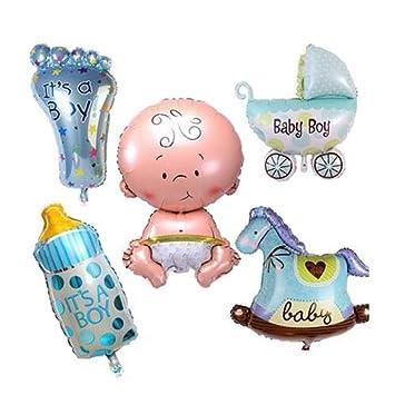 Baby Shower Boy Newborn Blue Christening Rocking Horse Balloon