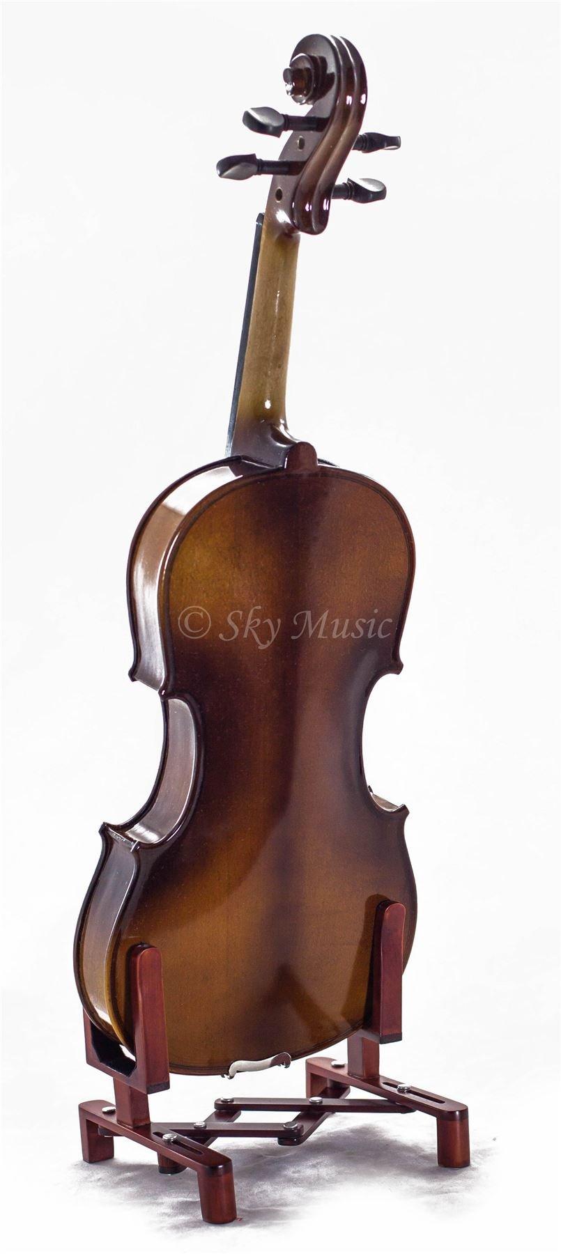 SKY 4/4 Full Size SKYVN201 Solid Maple Wood Violin by Sky (Image #3)