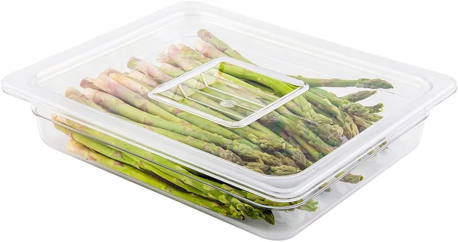 Cold Food Pan Lid - Plastic Cold Food Storage Container Lid - 1/2 Size - Clear - 1ct Box - Met Lux - Restaurantware, Half size