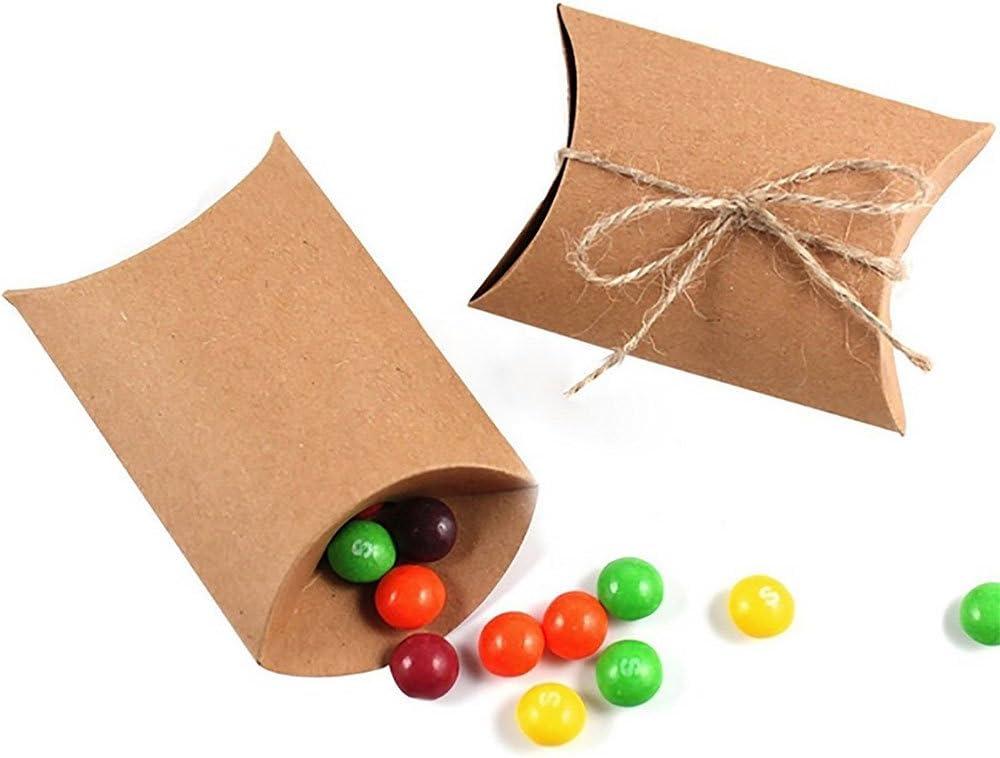 Awtlife 50/pcs Key Bouteille ouverte et taie doreiller Candy Box pour drag/ées de mariage vintage Baby Shower
