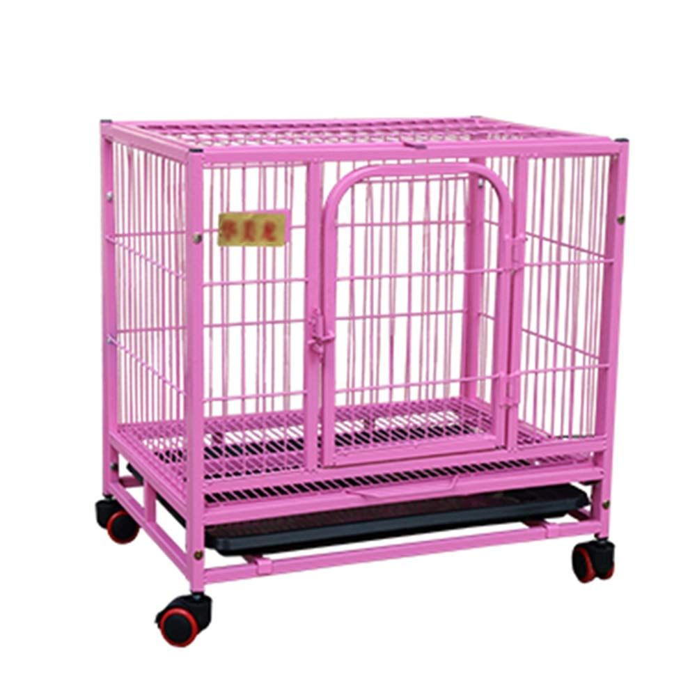 78×54×70cm Pet Cage Small Dog with Toilet Dog Cage, Indoor Pet Supplies, Small Animal Playpens Pink (Size   78×54×70cm)