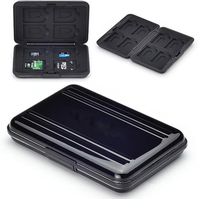 Flycoo - Funda para tarjetas de memoria (protección antigolpes, antipolvo, impermeable, antimagnética): Amazon.es: Electrónica