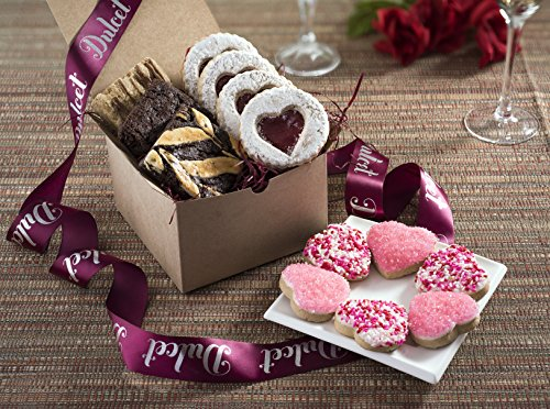 Dulcet-Delightful-Valentines-Day-Gifts-Tasty-Fresh-Romantic-Gifts-Includes-Brownies-Sprinkled-Heart-Cookies-Sugar-and-Linzer-Tart-Cookies-Ideal-for-Your-Valentines-Gift