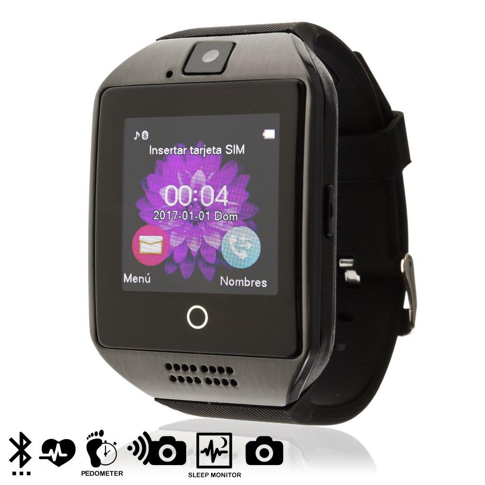 Silica DMV085 - Smartwatch Q18, Color Negro: Amazon.es ...
