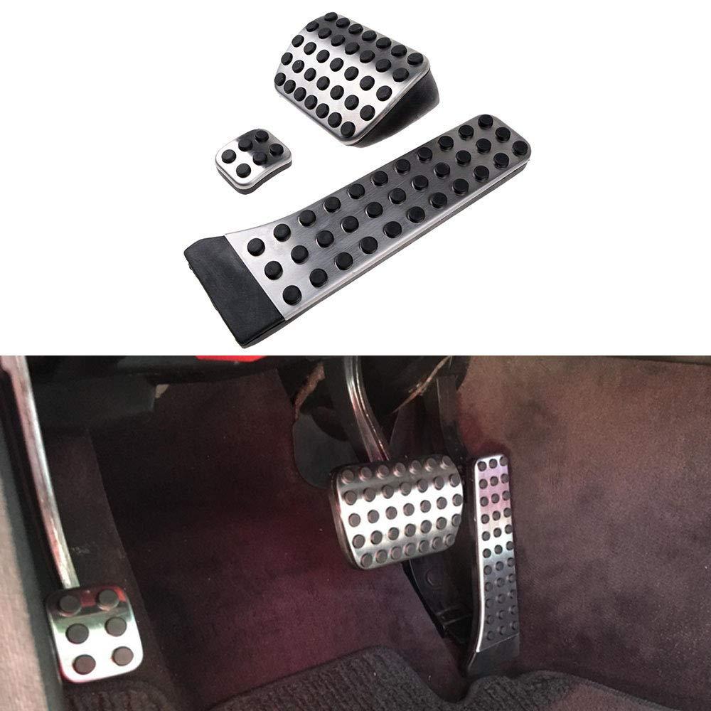 Bestlymood Car Accessori per Mercedes C E S Glk SLK CLS Classe SL W203 W204 W211 W212W210 Amg 3 Pezzi Pastiglie Freno Poggiapiede Acceleratore