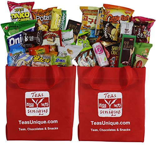 Korean Premium Snack Food Assortment, Popular Sweet, Savory and Spicy Treats, Mega Set C, 36 Count