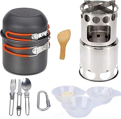 FYHCY Utensilios Cocina Camping Cubiertos Portátil Set Cocina ...