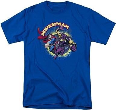 Superman Superman Vs Mongol Mens Camisa Manga Corta (Azul Real, XXX-Grande): Amazon.es: Ropa y accesorios