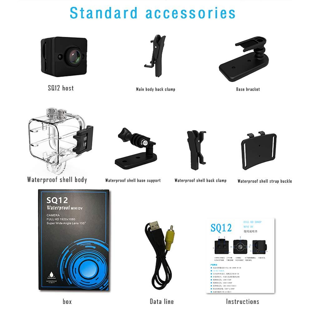 Mini cámara, videocámaras videocámaras Mini SQ12 cámara Deportiva Impermeable: Amazon.es: Bricolaje y herramientas
