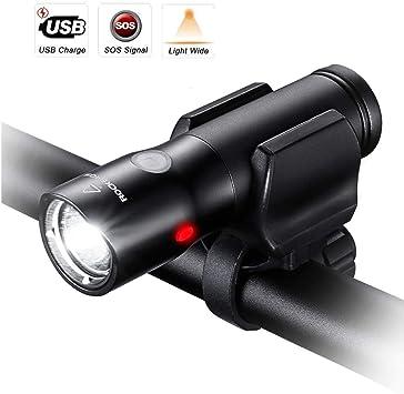 LASTL Luz De Bicicleta Recargable USB LED 700 Lúmenes Luces De ...