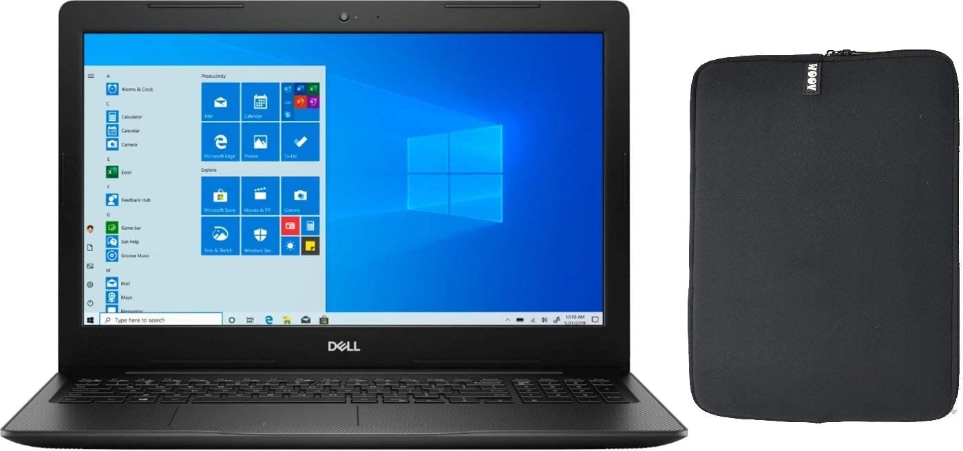 Dell Inspiron 15 Touchscreen HD Laptop Bundle with WOOV Accessory, 10th Gen Intel Core i3-1005G1, 16GB RAM, 256GB PCIe SSD Boot + 1TB HDD, Wireless-AC, HDMI, Windows 10 Home - Black