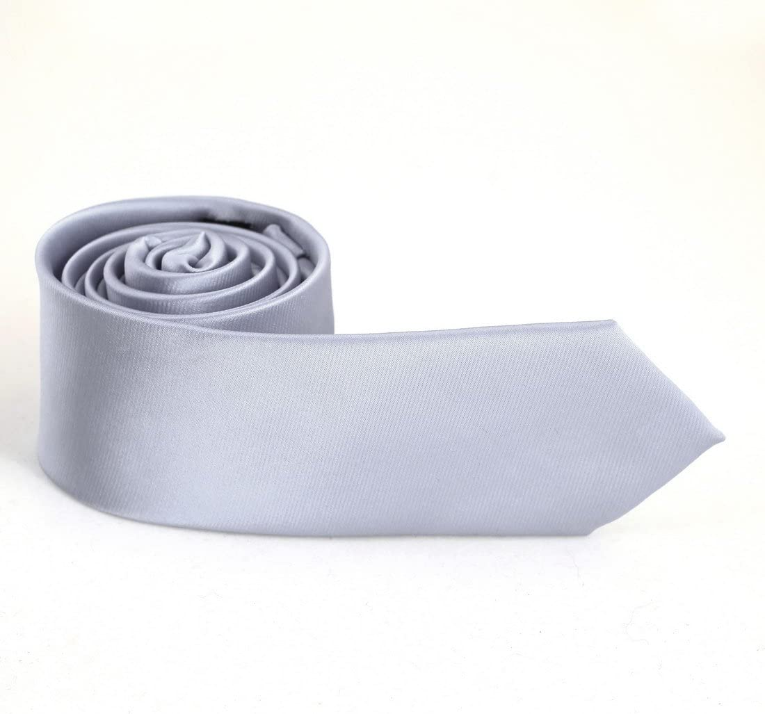 Epoint PS1021 Aquamarine Solid Skinny Tie Xmas Gift Slim Tie Gift Box