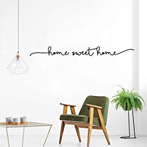 YOKIKI Nordic Quotes Home Sweet Home Wall Decals Vinyl Sticker Home Decor for Living Room Decoration Wallpaper Wall Art Door Stickers