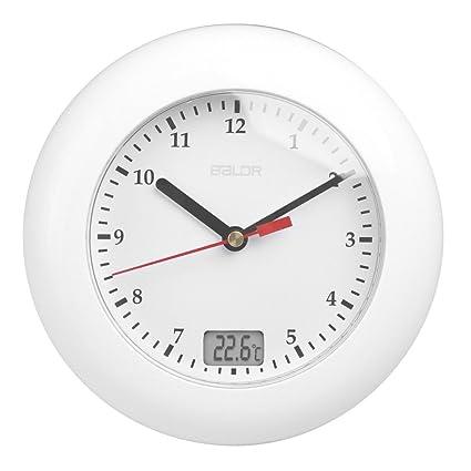 TIIMER Impermeable Baño Reloj De Pared Con Ventosas, Multifunción Temperatura Monitor, Horologe Digital,