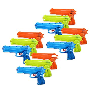 S/O - Juego de pistolas de agua (12 unidades, 20,6 cm)