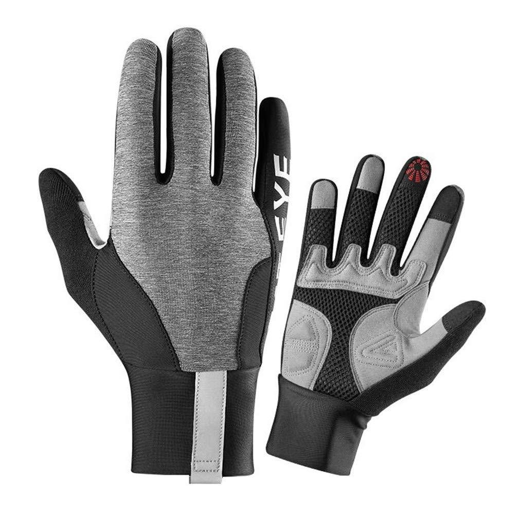 JXKEF Fahrrad-Radhandschuhe für Männer und Frauen Frühling und Sommer halber Finger volle Finger Touchscreen Stoßdämpfer Sonnenschutz Sporthandschuhe