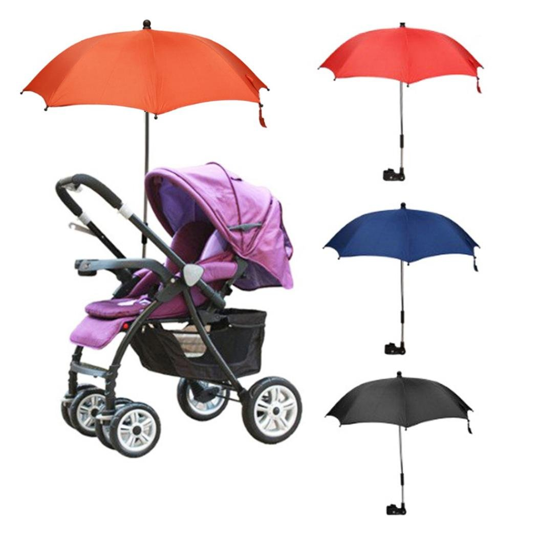Coerni All Position Umbrella Parasol with Universal Clamp for Baby Stroller Wheelchair Pushchair Black
