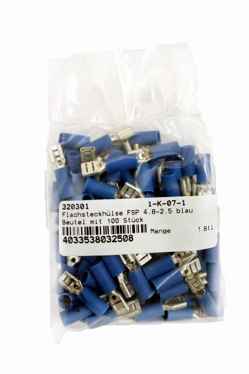 lot de 100 VS Electronic 320301/Lame R/éceptacle FSP 4,8/Lot Bleu