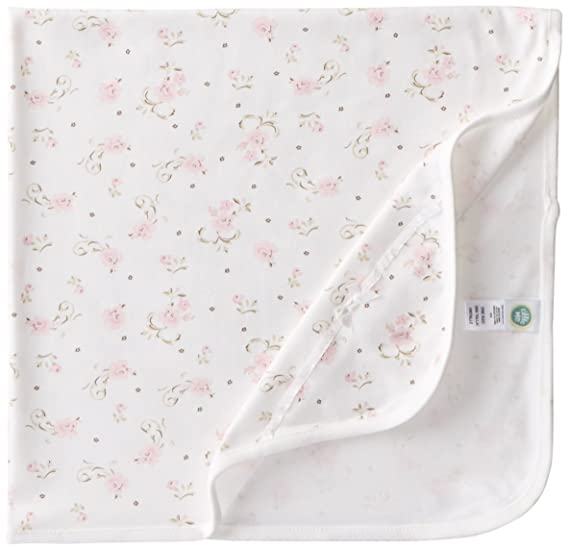21c696bcf Amazon.com  Little Me Baby Girls  Scroll Tag Along Blanket