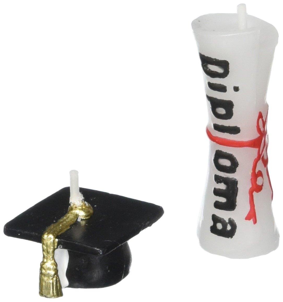 Wilton 2811-1800 6-Piece Graduation Candle Set
