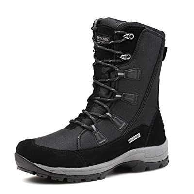 ROCKMARK Women's Waterproof Snow Boots Mid Calf Warm Winter Outdoor Footwear | Snow Boots