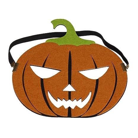 DaoRier Calabaza Máscaras Halloween Suministros de Fiesta Decoraciones Adulto Accesorio del Ropa Size 22×20cm
