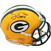 $139 » Jordan Love Autographed Green Bay Packers Speed Mini Football Helmet - BAS COA