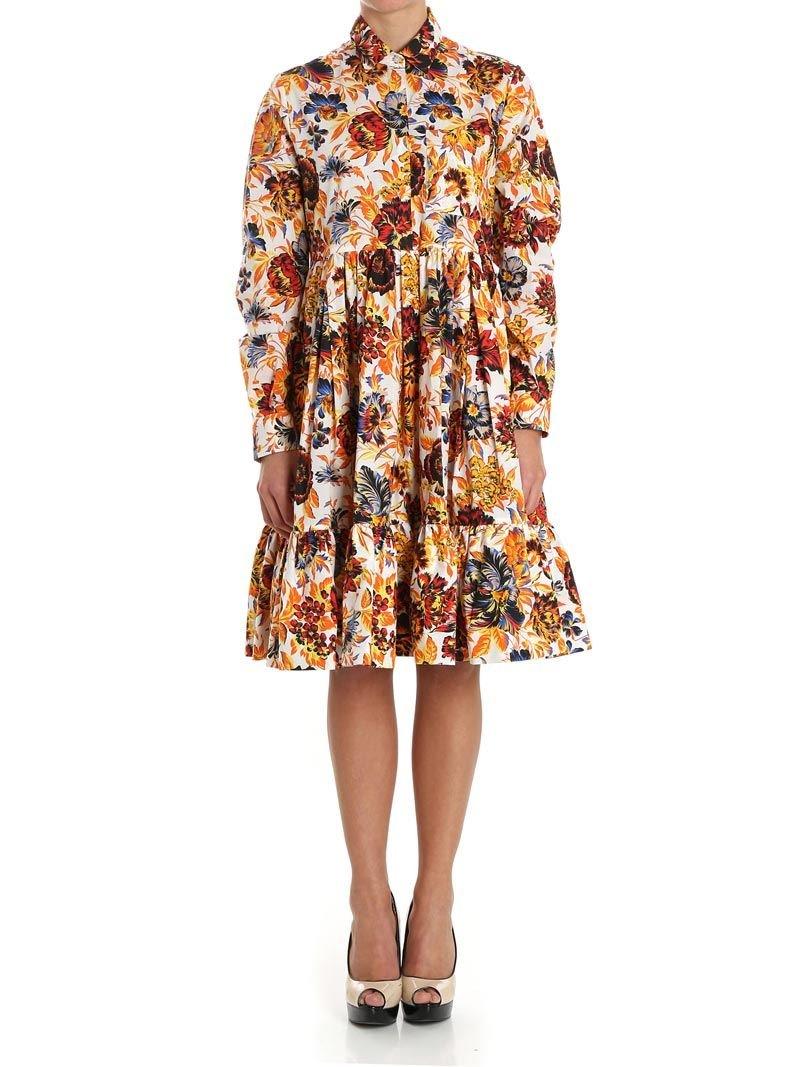 MSGM Women's 2441Mda174y18415201 Multicolor Polyester Dress