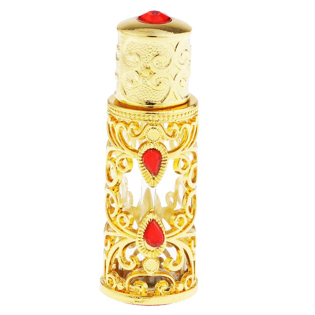 F Fityle Retro Parfümzerstäuber schöner Parfümflakon - Farbe2, 3ml 55x20x20mm