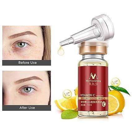 KOBWA - Sérum de vitamina C para ojo facial, orgánico antiarrugas con ácido hialurónico y