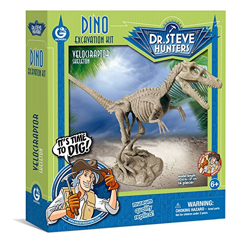Geoworld Dino Dig  Excavation Kit - Velociraptor Skeleton