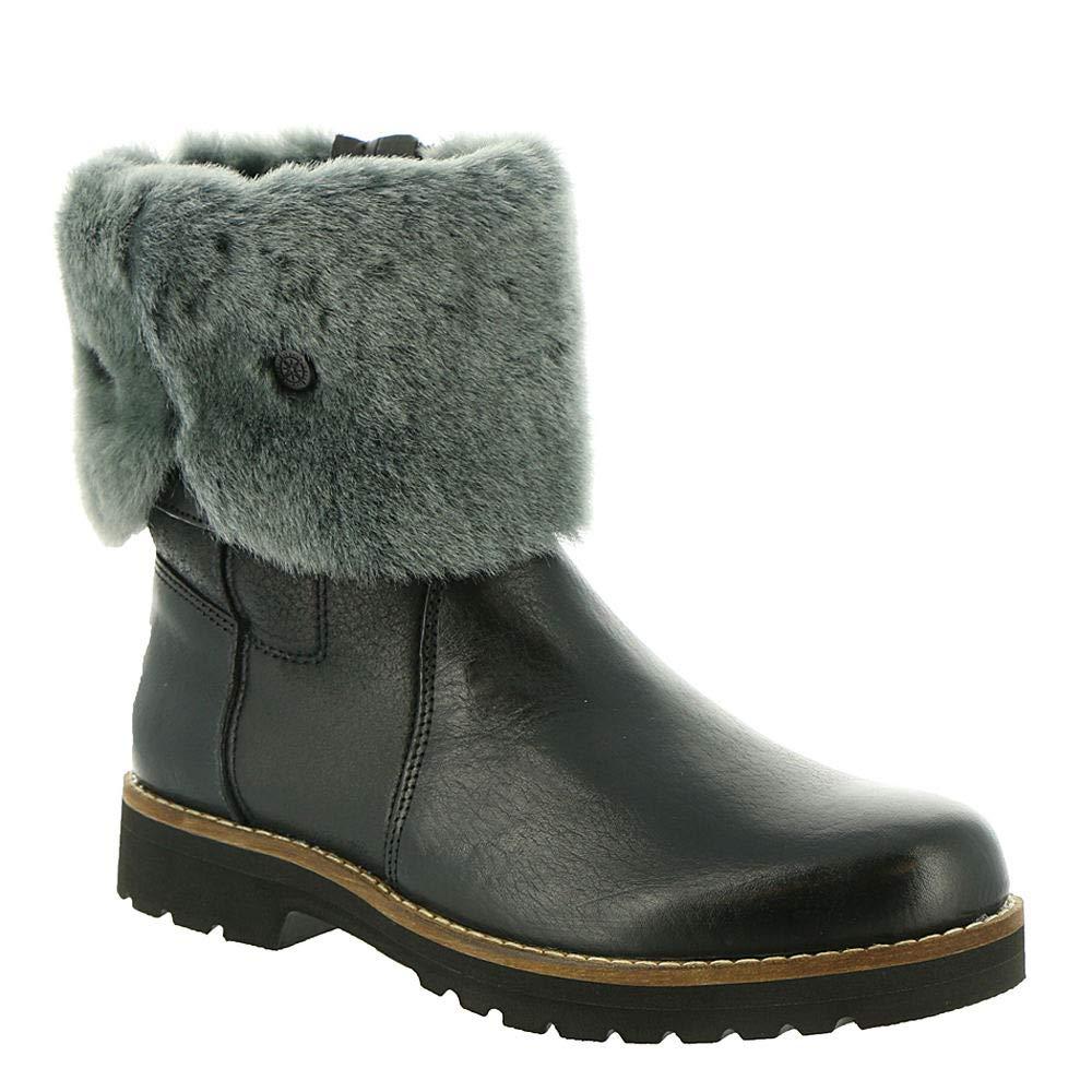 Black Bussola Women Kalahari Mountain Double Face Mid-Calf Boots, Karyn Boots, 2 Way Foldable Mid High Boots