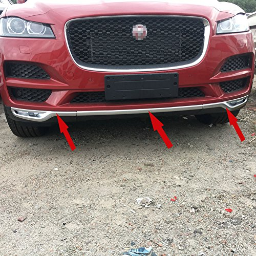 Generic Matte Chrome Front Grill Grille Bumper Cover Trim Fit For Fit For Jaguar F-Pace,F-Pace PREMIUM,F-Pace PRESTIGE,2016 2017 2018 by Generic