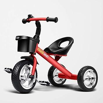 Fenfen Triciclo para niños Carrito de bebé Bicicleta de Acero con Alto Contenido de Carbono 2-5 años de Edad Triciclo del Pedal para bebés: Amazon.es: Hogar