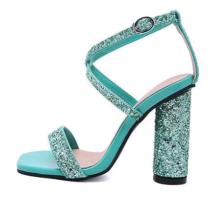 9d710d47dbc37 Amazon.com: YXB Women's High Heel Sandals 2019 Summer Peep Toe ...