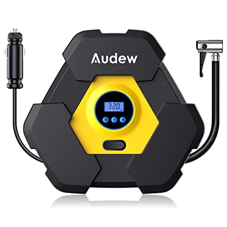 Amazon.com: Audew Portable Air Compressor Pump, 12V Digital Tire Inflator, 150 PSI Tire Pump for Car, Truck, Bicycle and Other Inflatables: Automotive