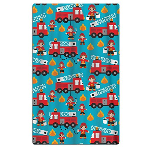 FSKDOM Fire Truck And Hero Boys Car Cotton Easy Care Maximum
