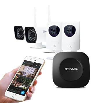 Sistema de Seguridad, Alarma y Video vigilancia CleverLoop - SIN CUOTAS - (Base + 4 Cámaras IP (2 Interior + 2 Exterior)): Amazon.es: Bricolaje y ...