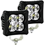 LED Pods Flood Light Bar - 4WDKING 2PCS 40W LED Off Road Work Light Truck Fog Lamp Tail Light IP69K Waterproof ATV Cube Light