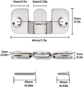 LIKERAINY Colgadores Grande para Cuadros de Metal Conector para Sof/á Mueble Ganchos para Espejo y Marco de Fotos Perchas de Suspensi/ón de Panel Plata 20 Pares