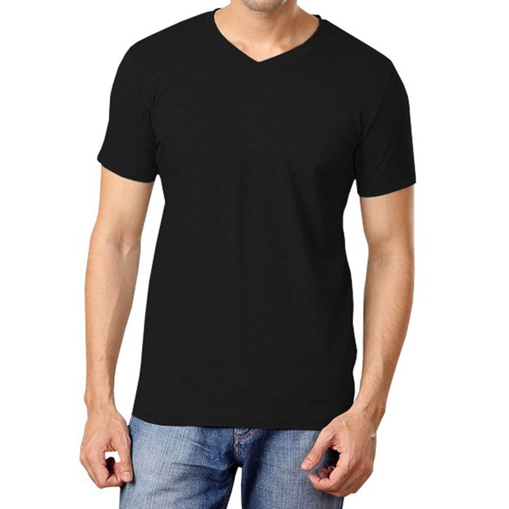 aaa7dd357667 Softwear Mens Black V-neck Half sleeve T-shirt-XX-Large  Amazon.in   Clothing   Accessories