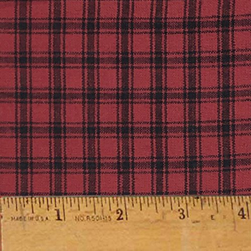 Homespun Cotton Fabric - Mountain Lodge 1 Cotton Homespun Plaid Fabric by JCS - Sold by the Yard
